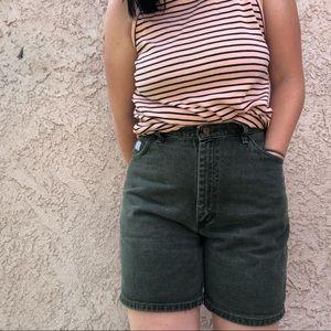 Wrangler for women green denim mom shorts